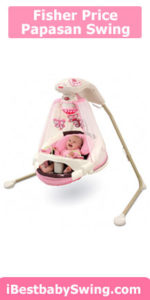 Fisher price papasan cradle swing, mocha butterfly
