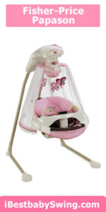 Fisher price papson cradle swing, mocha butterfly baby swing