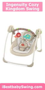 Ingenuity Cozy Kingdom Portable best baby Swing for small spaces