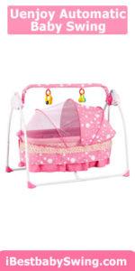 Uenjoy Automatic Baby Basket Electric Rocking Multifunction Baby Swing Cradle