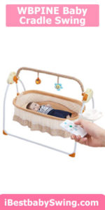 WBPINE Baby Cradle Swing, Automatic Baby Bassinets Swing Crib