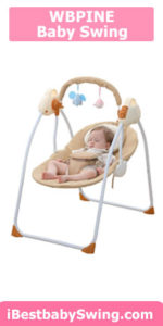 WBPINE Baby Swing Cradle, Automatic Portable Baby Rocker Swing Chair