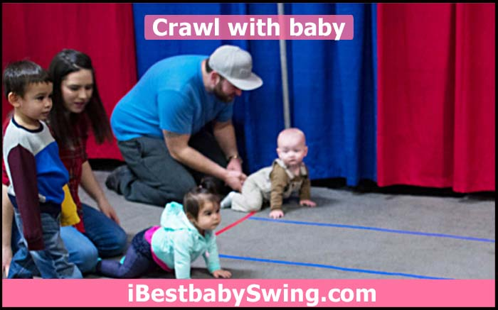 Crawling with baby