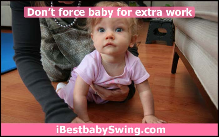 Don't force baby to crawl