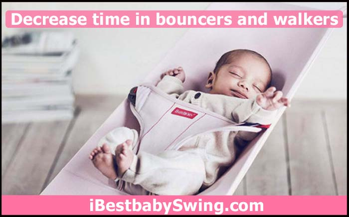 how to help baby crawl by decreasing time of baby in bouncer