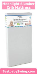Moonlight Slumber Little Dreamer Dual Sleep Surface Crib Mattress