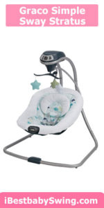 Graco simple sway best baby swing that plugs in, stratus