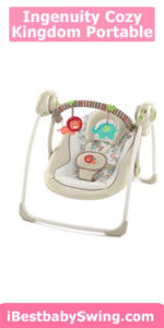 Ingenuity Cozy Kingdom Portable Cheap Baby Swing review