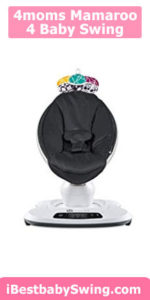 4moms mamaroo 4 Baby Swing - black classic nylon fabric