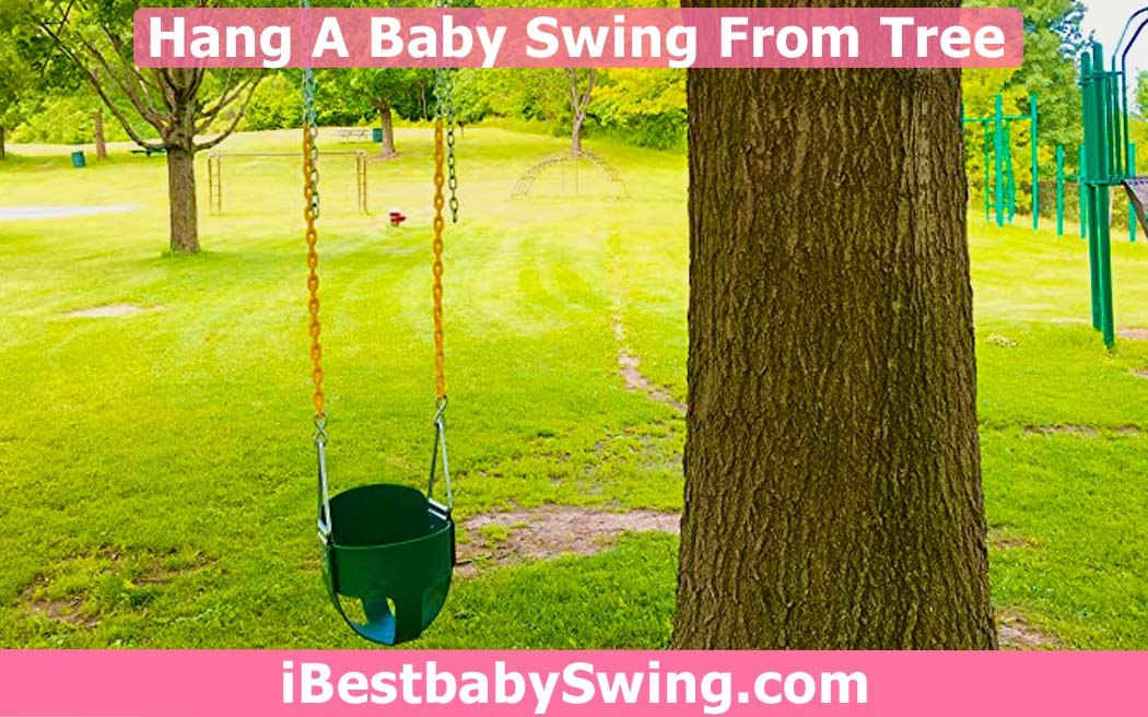 How to hang a baby swing from a tree by ibestbabyswing