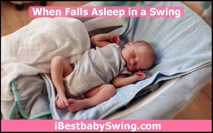 baby sleeping in swing