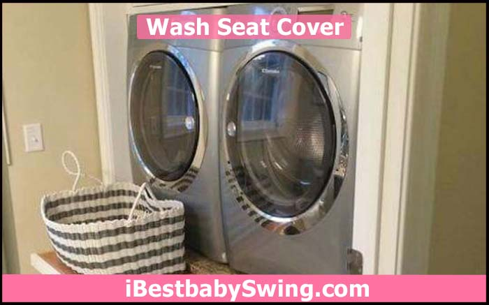 washing seat cover of baby swing