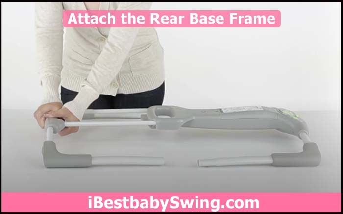 attach and assemble the rear base frame of ingenuity baby swing