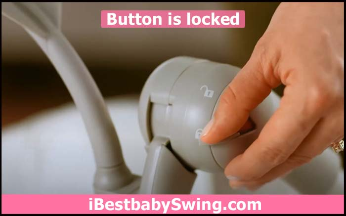 button of ingenuity baby swing is locked