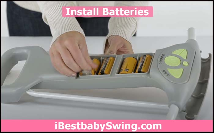 replace or install the batteries of ingenuity baby swing