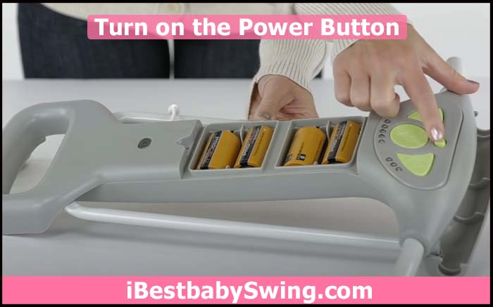 turn on the power button